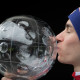 PLANICA,SLOVENIA,26.MAR.17 - NORDIC SKIING, SKI JUMPING, SKI FLYING - FIS World Cup Final, men, photo shoot. Image shows Stefan Kraft (AUT). Keywords: crystal globe, trophy. Photo: GEPA pictures/ Andreas Pranter
