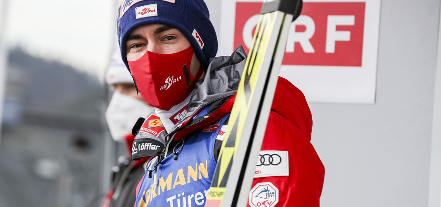 INNSBRUCK,AUSTRIA,02.JAN.21 - NORDIC SKIING, SKI JUMPING - FIS World Cup, Four Hills Tournament, large hill, qualification. Image shows Stefan Kraft (AUT). Photo: GEPA pictures/ Patrick Steiner