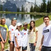 Gemeinsame Wanderung mit sportbegeisterten Kindern - Hiking with some sports enthusiastic kids